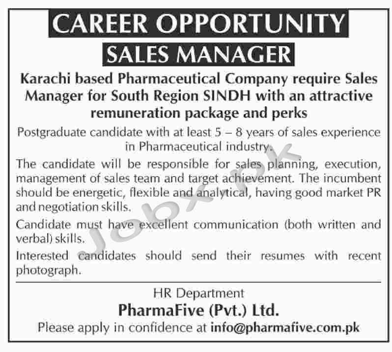 Jobs in Pharamfive in Sindh