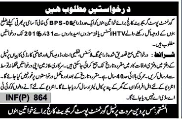 Drivers Jobs in Bannu 2019