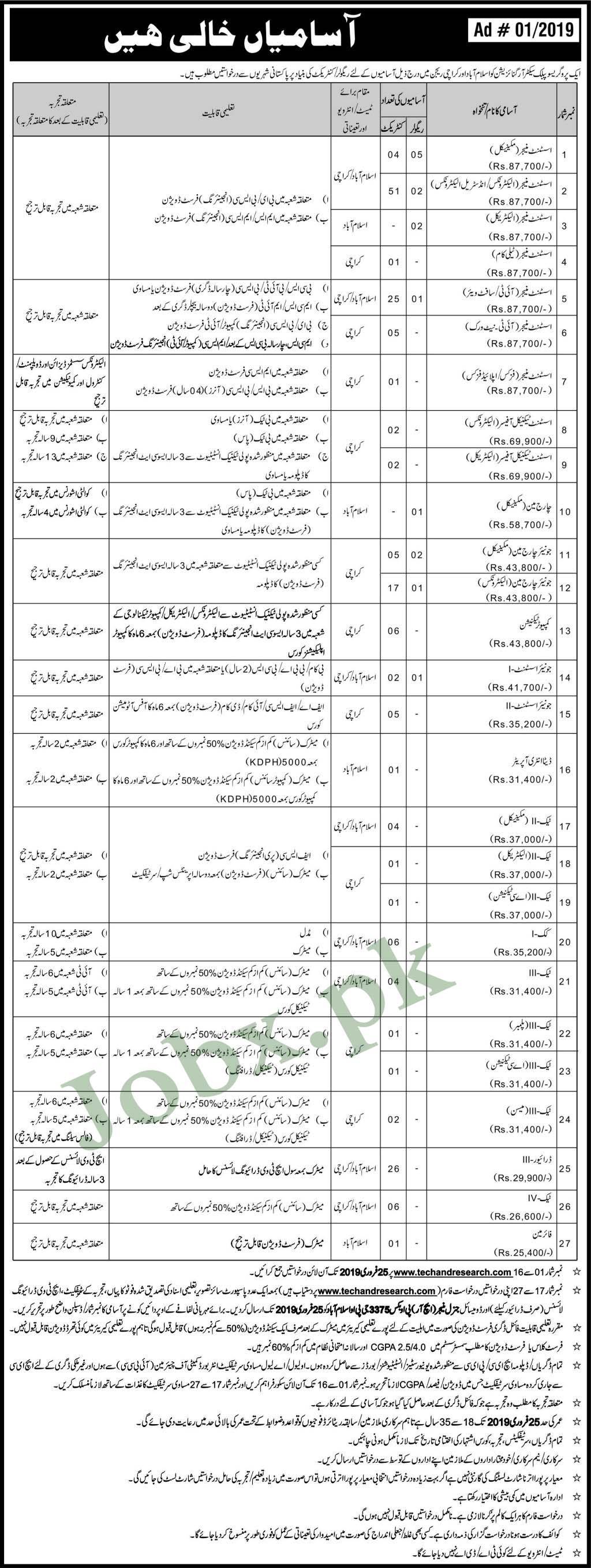 Jobs in Islamabad & Karachi Region Sunday 10 feb 2019
