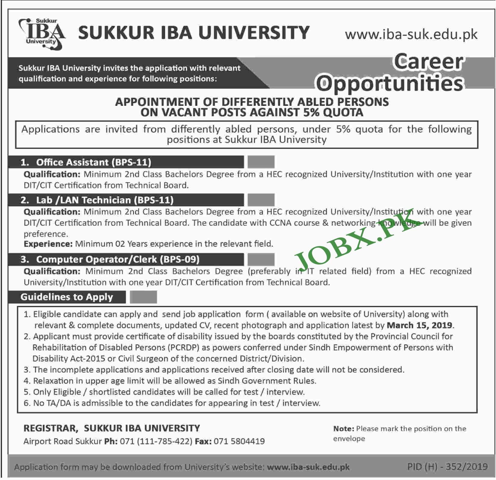 BA University Sukkur 2019