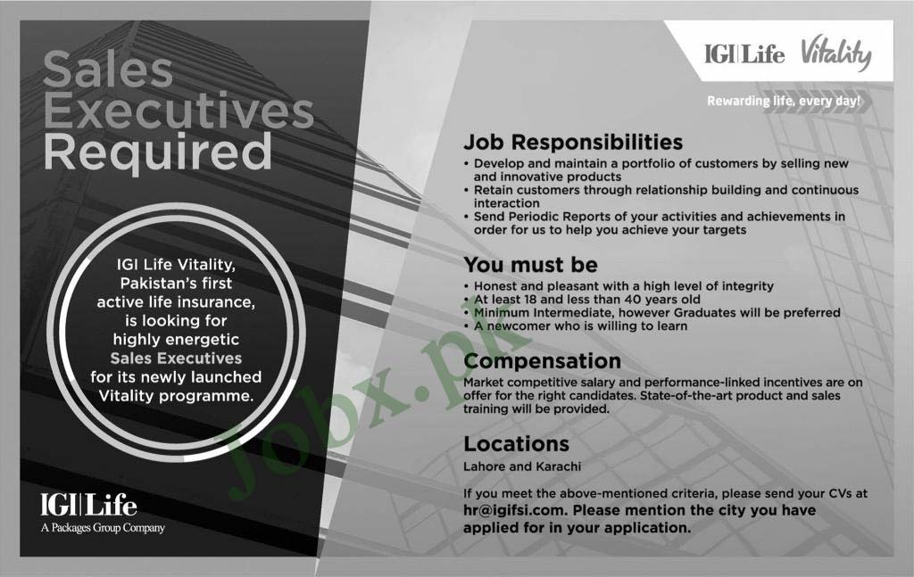 jobs in igi life
