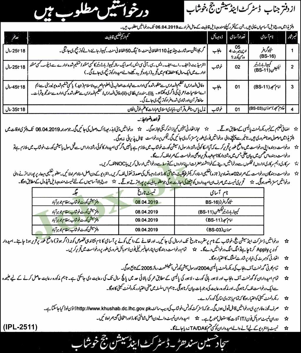 Govt Jobs in Khushab