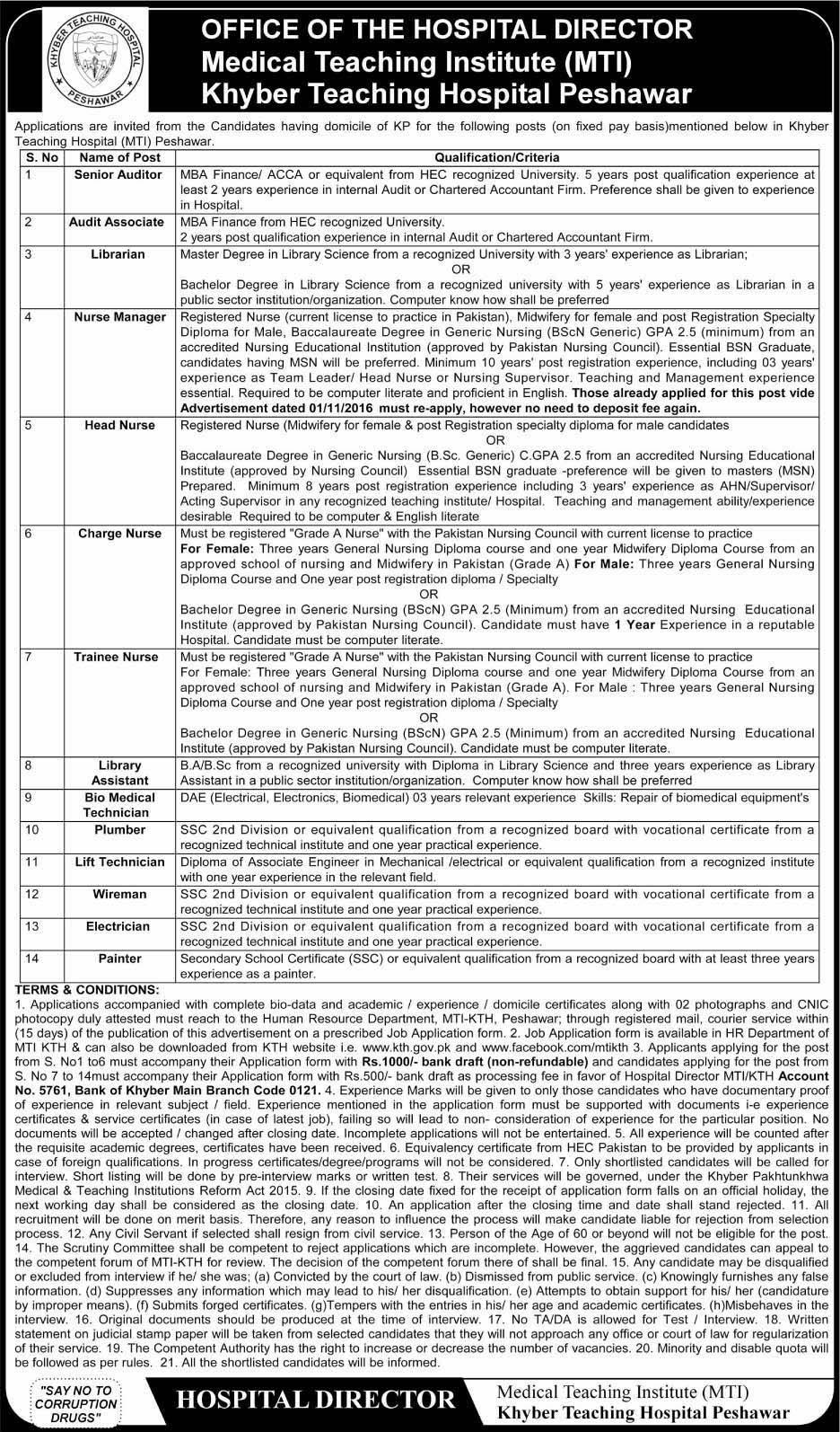 Jobs In Establishment Division Govt of Pakistan March 2019
