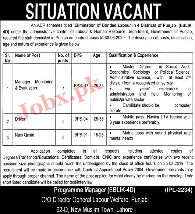 Labour and Human Resource Department Lahore 2