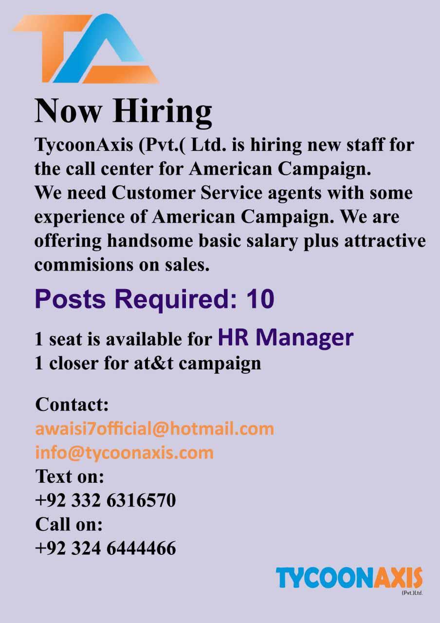 Tycoonaxis Pvt Ltd Jobs