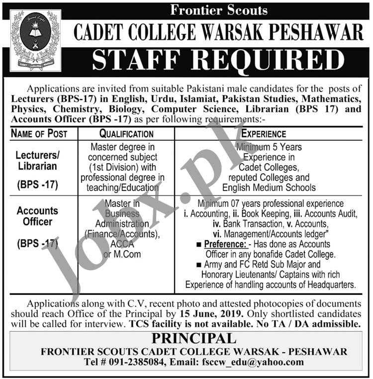 Cadet College Warsak Peshawar