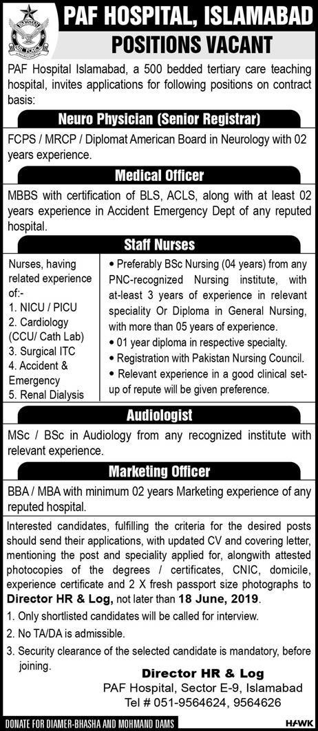 PAF Hospital Islamabad Jobs