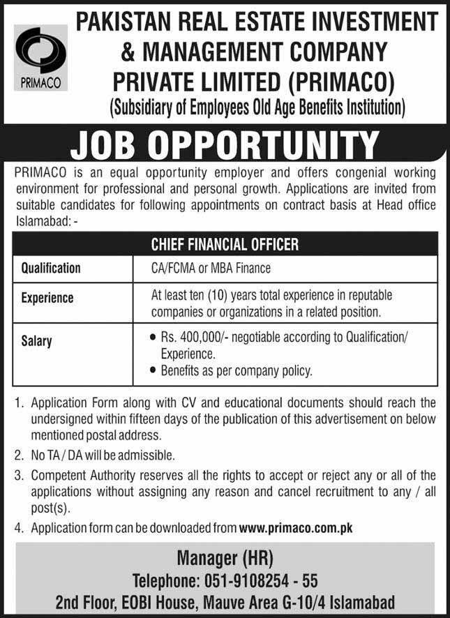 Chief Financial Officer Jobs