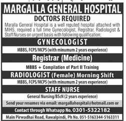 Margalla Genral Hospital Private Jobs 2020