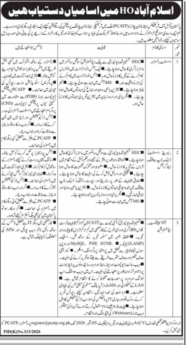 Pakistan Council For Architects And Town Planners Jobs