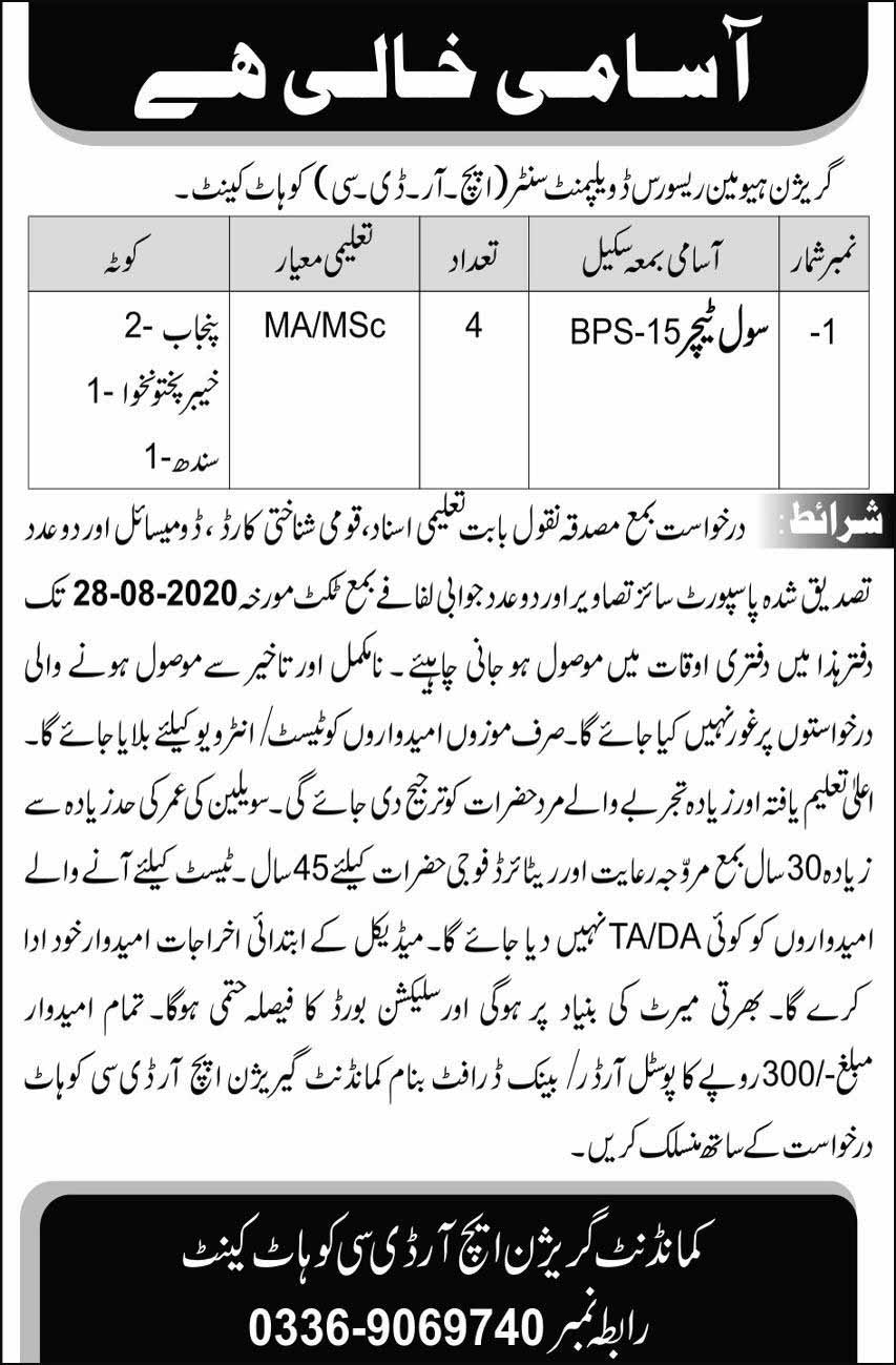 civil teachrs jobs