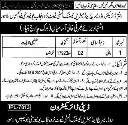 Jobs for Mali in Lahore