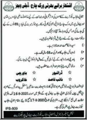 Provincial Assembly Secretariat Jobs in South Punjab 2020