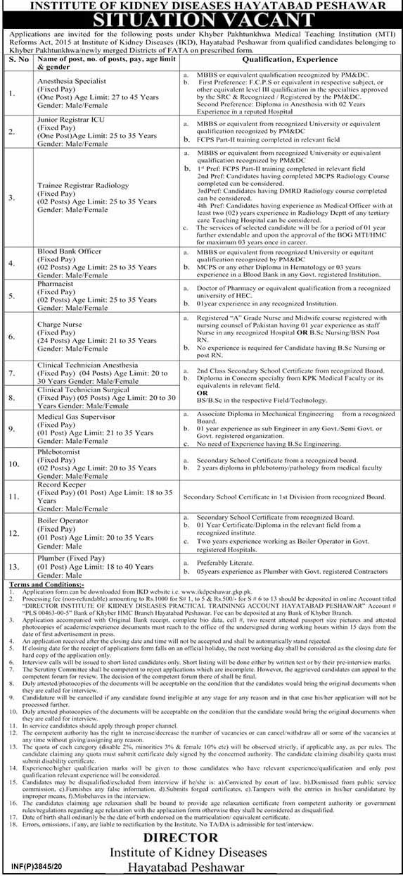 Institute Of Kidney Diseases Jobs