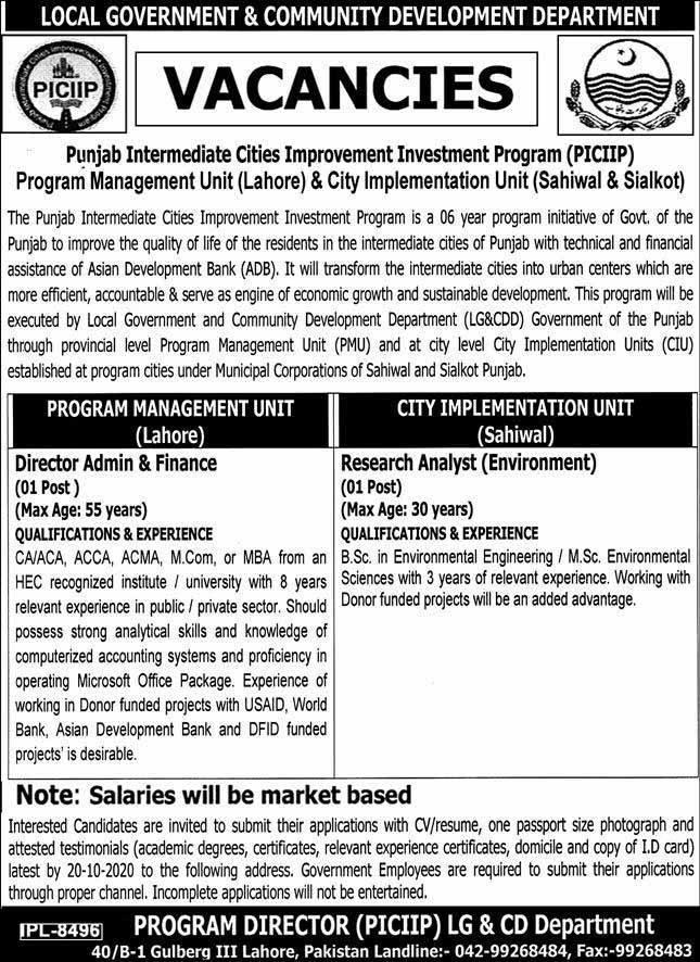 Local Government & Community Development Jobs 2020