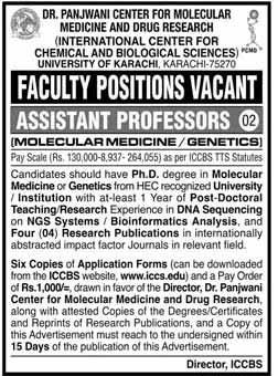 Assistant Professor Jobs in Karach 18 Nov 2020