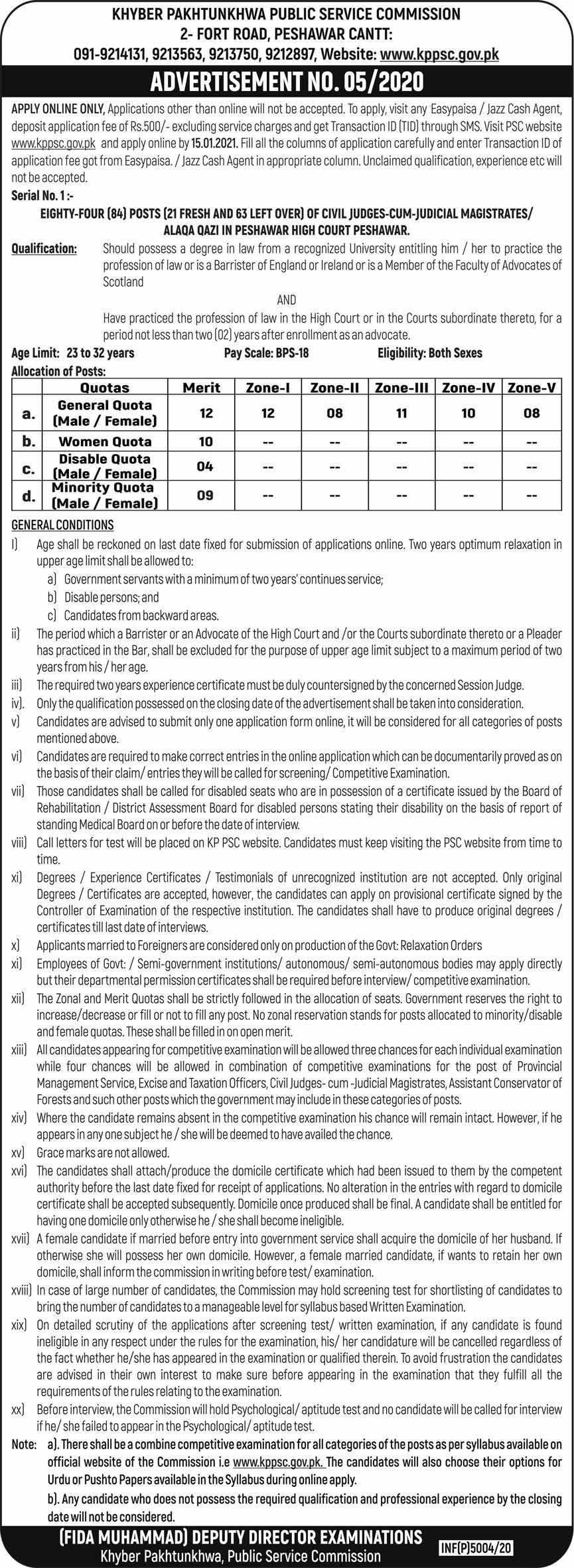 KPPSC 2021 Jobs Advertisement