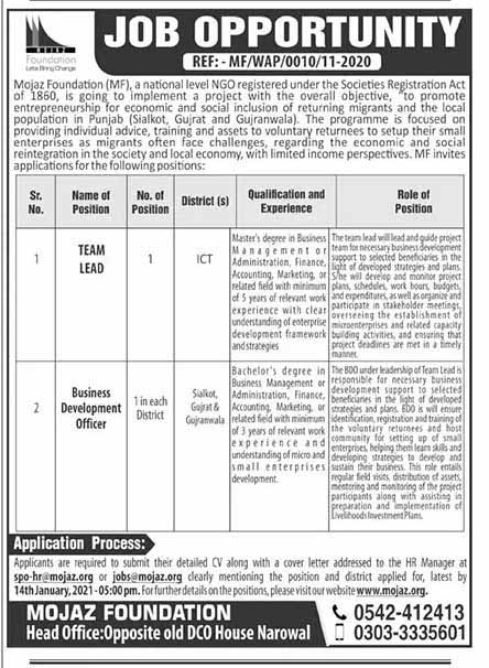 Private Jobs in Narowal 2021