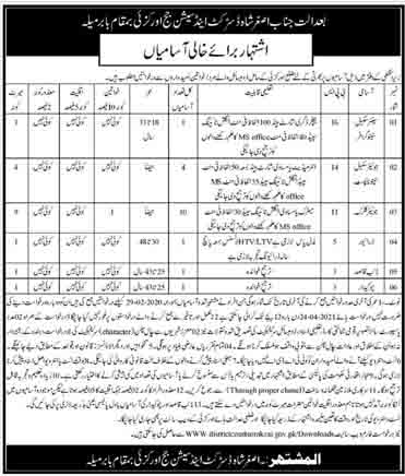 Office of the District & Session Judge Orakzai Jobs March 2021