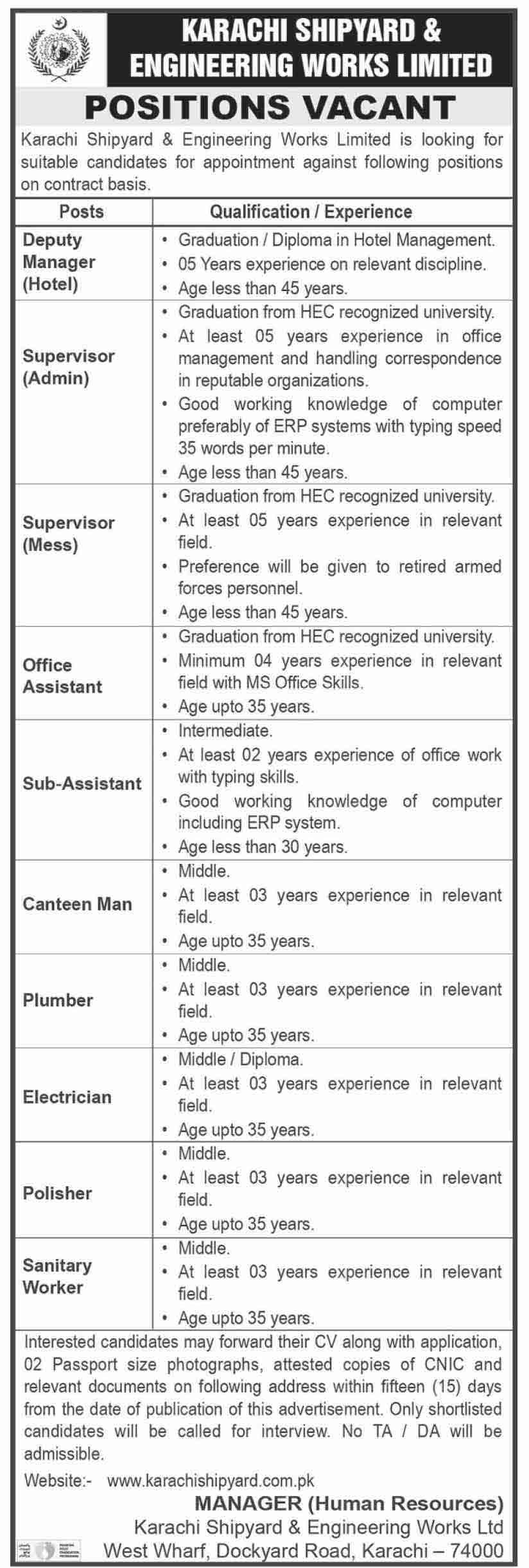 Karachi Shipyard & Engineering Works Limited April 2021