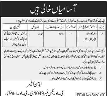 Public Sector Organization PO Box 1049 Islamabad April 2021